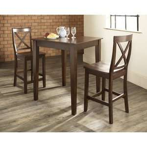 Crosley Three Piece Pub Dining Set with Tapered Leg Table
