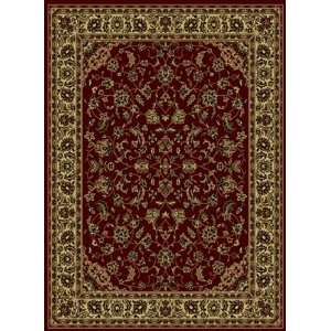 Collection Burgundy Traditional Rug With Border 5.30.