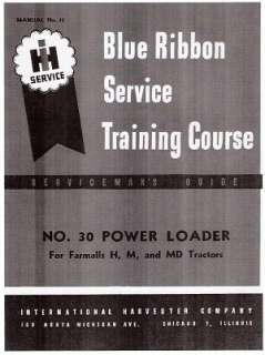 FARMALL 30 Power Loader Service manual for H   M and MD