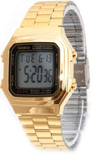 NEW CASIO GOLD A178WGA 1A MENS DIGITAL CHRONOGRAPH LATEST WATCH