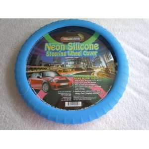 Cameleon Blue Neon Silicone Comfort Grip Steering Wheel