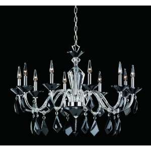 Nulco Lighting Chandeliers 328 10 CLR Black Chrome Lead
