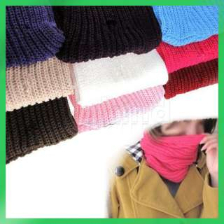 Lovely New Korean Style Cute Knitting Wool Circle Scarf Neck Warmers