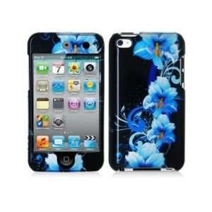 Blue Flower 2d Hard Snap on Crystal Skin Case Cover