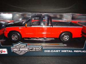 Maisto Ford F350 Harley Davidson 2004 Black/Orange 1/18