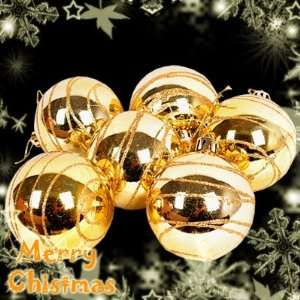 Christmas XMAS Tree Decoration 6Pcs 60mm Ball Bauble Baubles