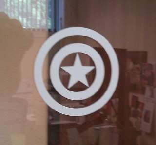 single color Captain America shield decal color options