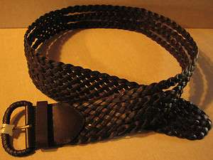 New Womens Merona Thick Braided Leather Belt 490610617475