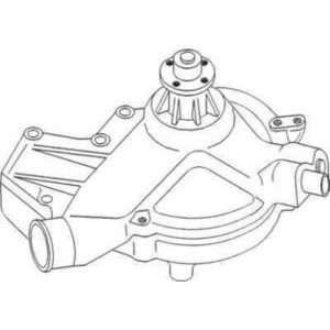New Water Pump Assembly AR98549 Fits JD 4040, 4230