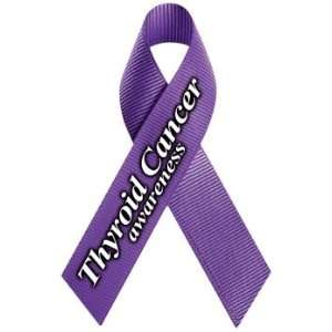 Thyroid Cancer Awareness Ribbon Magnet Automotive