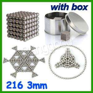 Magnet Balls Beads Sphere Puzzle Cube Magic Funny Toy 216 + Box 3mm