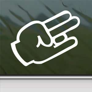 SHOCKER Hand Sign White Sticker Car Vinyl Window Laptop