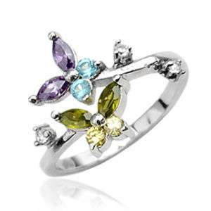 STERLING SILVER Toering Toe Ring Body Jewelry BUTTERFLY