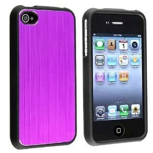INSTEN Snap on Dark Purple Brushed Aluminum Case compatible with Apple