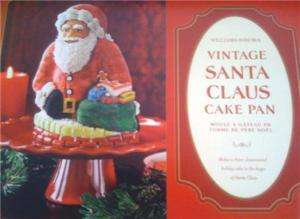 New Williams Sonoma Nordic Ware Vintage Santa Cake Pan