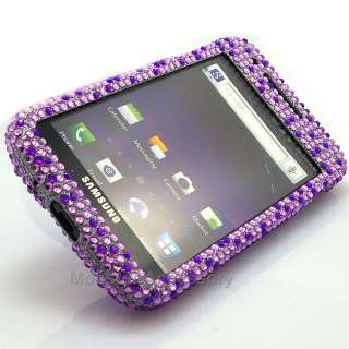 Samsung Galaxy S 2 i727 Purple Heart Bling Hard Case Cover AT&T