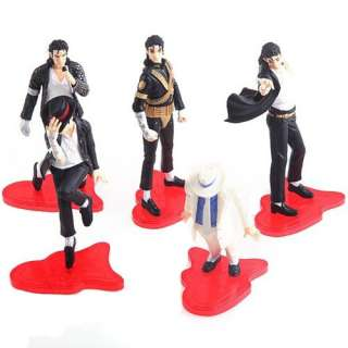 5PCS Best Moment of Michael Jackson 5 Pcs Figure Classic Dance