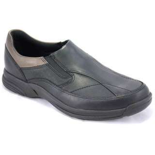 Rockport Mens Hartinson Black Leather Slip On Shoes