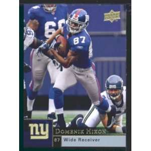 Domenik Hixon   Giants   2009 Upper Deck NFL Football