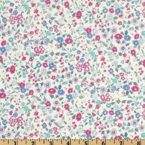 44 Wide Memoire a Paris Tiny Floral Aqua Fabric By The