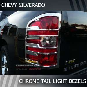 2007 2012 Chevrolet Silverado Chrome Tail Light Bezels