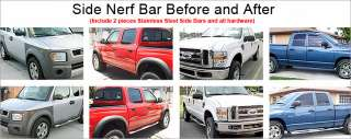 01 Dodge Ram 1500 Club Cab Chrome Side Step Stainless Nerf Bars