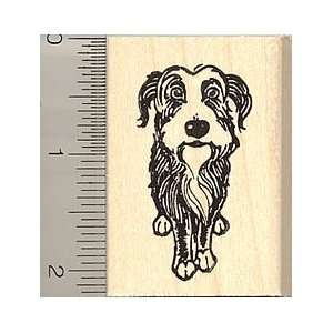 Tibetan Terrier Dog Rubber Stamp   Wood Mounted Arts