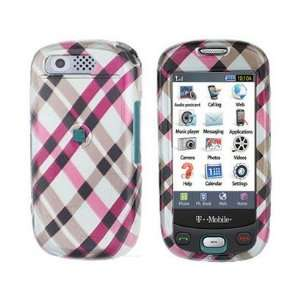 Plastic Phone Design Case Cover Hot Pink Plaid For Samsung Highlight