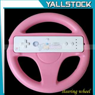 PINK STEERING WHEEL FOR Wii MARIO KART RACING GAME