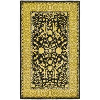 Safavieh Silk Road Black & Ivory4 ft. x 6 ft. Area Rug