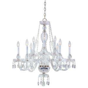 Hampton Bay 9 Light Hanging Satin Nickel Chandelier  DISCONTINUED
