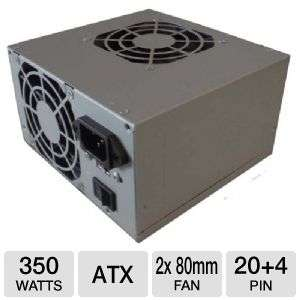 Power Supply   350W, Dual 80mm Fan, ATX Power Supply