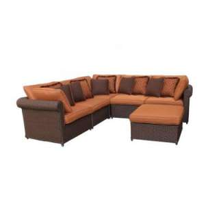 Hampton Bay Cibola 6 Piece Sectional Patio Seating Set FW HUN6PCSCT at