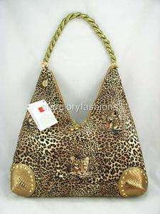 Fabulous Brown Leopard Print Hobo Shopping Handbag