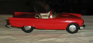 1957 Ford Thunderbird Convertible, AMT,1/25 scale, Promo, plastic with