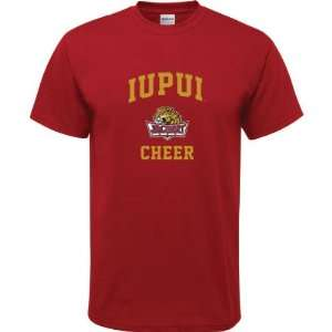 IUPUI Jaguars Cardinal Red Youth Cheer Arch T Shirt