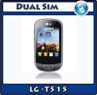 LG Cookie Duo T515 Unlocked Dual Sim Mobile Phone Black