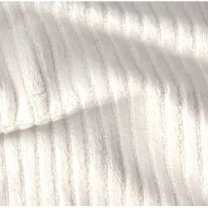 60 Wide Minky Chenille Stripe White Fabric By The Yard