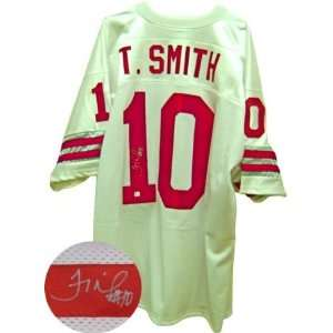 Troy Smith Signed Ohio State White Jersey  Sports