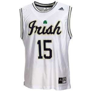 Adidas Notre Dame Fighting Irish #15 White Replica Basketball