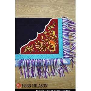 Handpaint Western Show Barrel Racing Saddle Blanket Pad