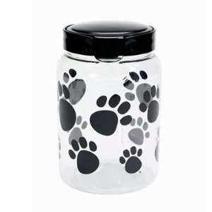 64oz Black Paw Print Pet Treat Canister by Snapware