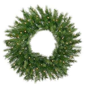Spruce Artificial Christmas Wreath   Clear Lights