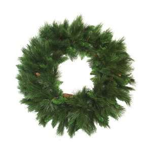 Pine Artificial Christmas Wreath With Pine Cones