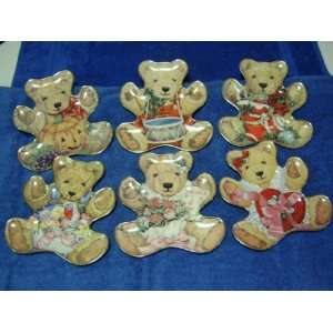 THE FRANKLIN MINT HEIRLOOM BEAR COLLECTOR PLATE SET