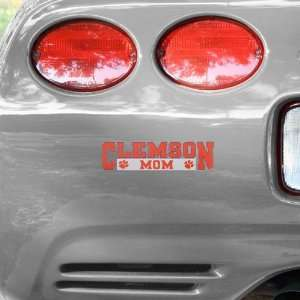 NCAA Clemson Tigers Mom Car Decal Automotive