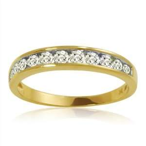 10K Yellow Gold Diamond Anniversary Ring ( 1/2ct available