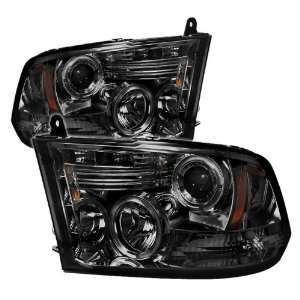 Raven Dodge Ram 1500 09 10 Halo LED Projector Headlights