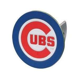 Chicago Cubs MLB Pewter Logo Trailer Hitch Cover