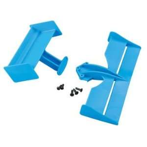 Wing Set Front & Rear Blue Indy Car Toys & Games